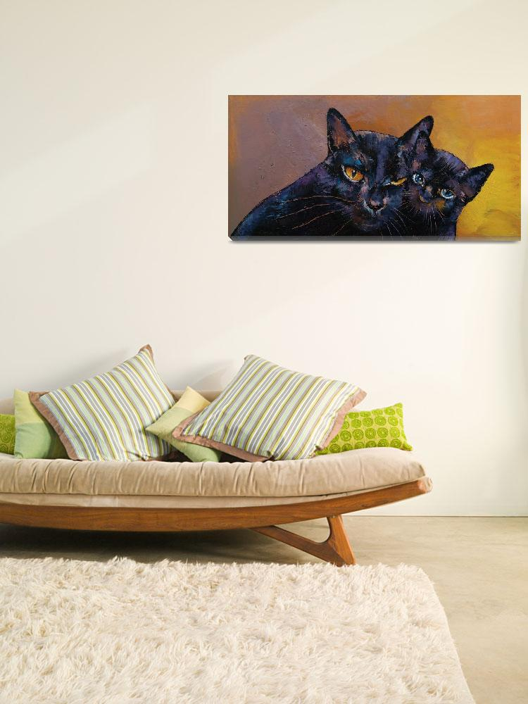 """Bombay Cat with Kitten&quot  by creese"