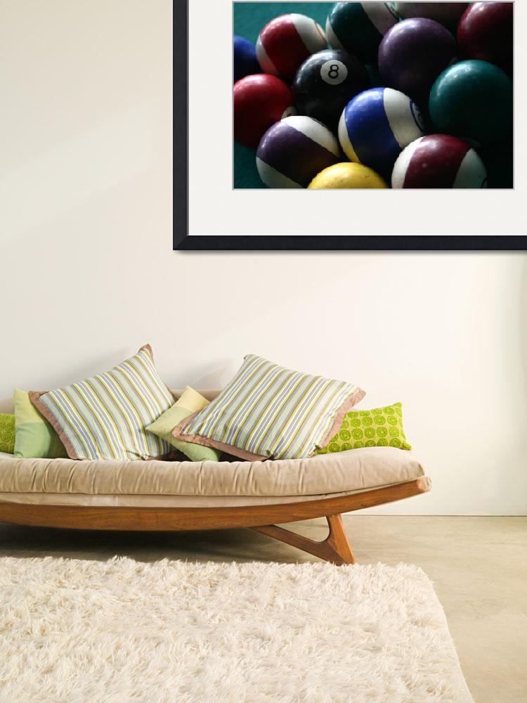 """""""Pool balls on a billard table&quot  (2009) by imaginativeimagery"""