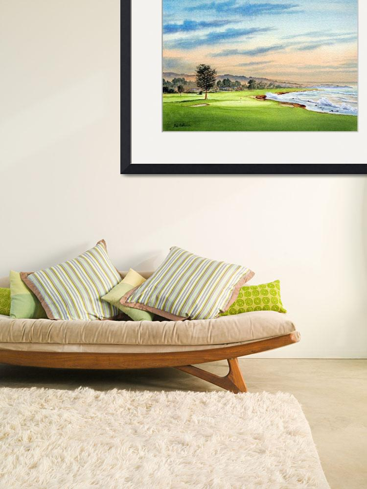 """Pebble Beach Golf Course 18Th Hole""  (2012) by billholkham"