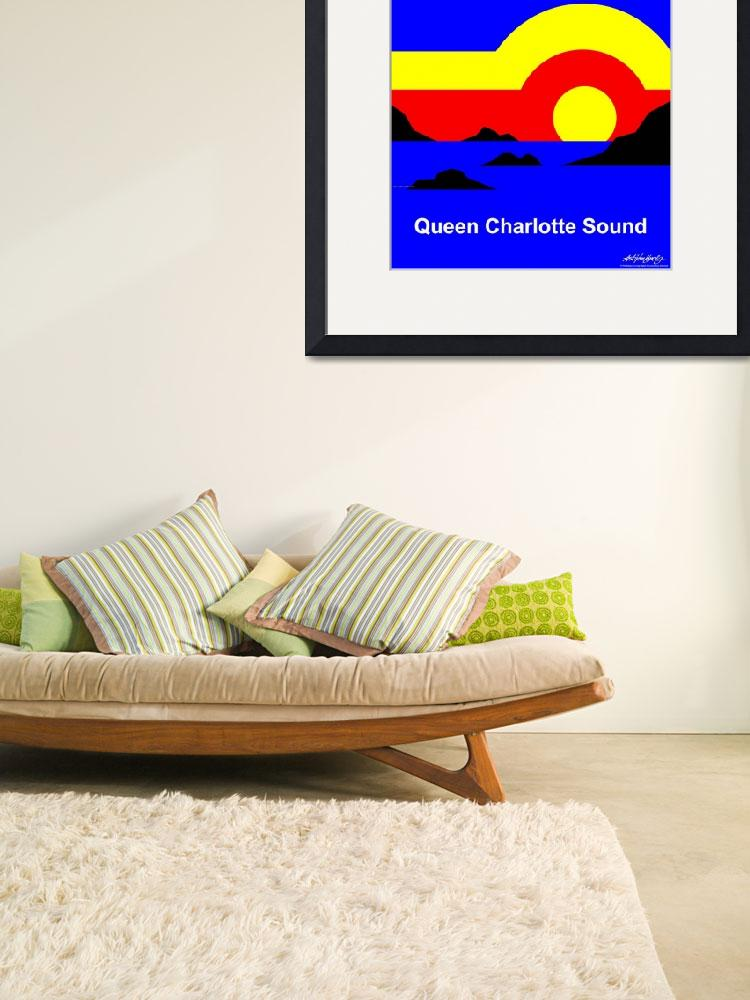 """""""Queen Charlotte Sound - Text Poster&quot  by Lonvig"""