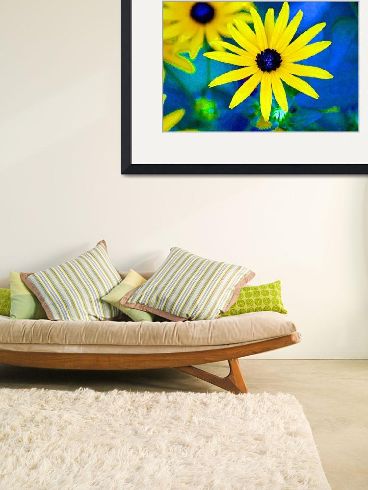 """Black Eyed Susan Flowers Bright&quot  (2012) by KsWorldArt"