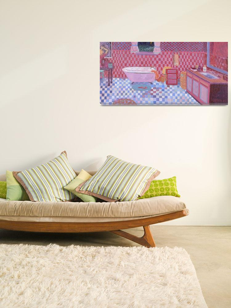 """""""Interior with red & blue&quot  by KayArtiste"""