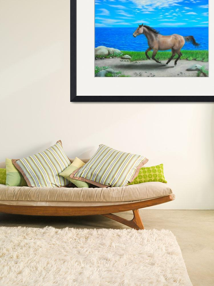 """""""""""Horse by Ocean""""&quot  (2010) by airpainter"""