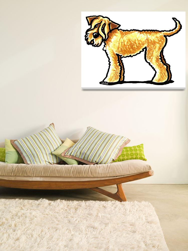 """Soft Coated Wheaten Terrier""  (2010) by OffLeashArt"
