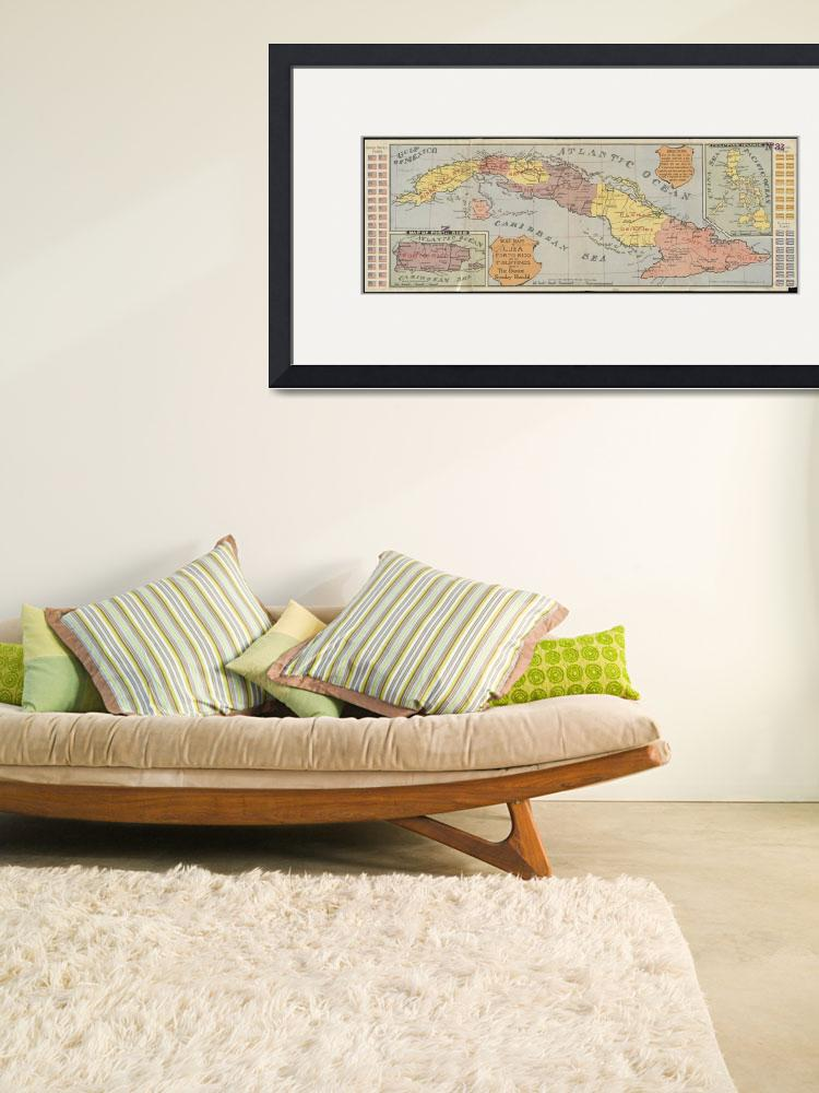 """""""Vintage Map of Cuba (1898) 3""""  by Alleycatshirts"""