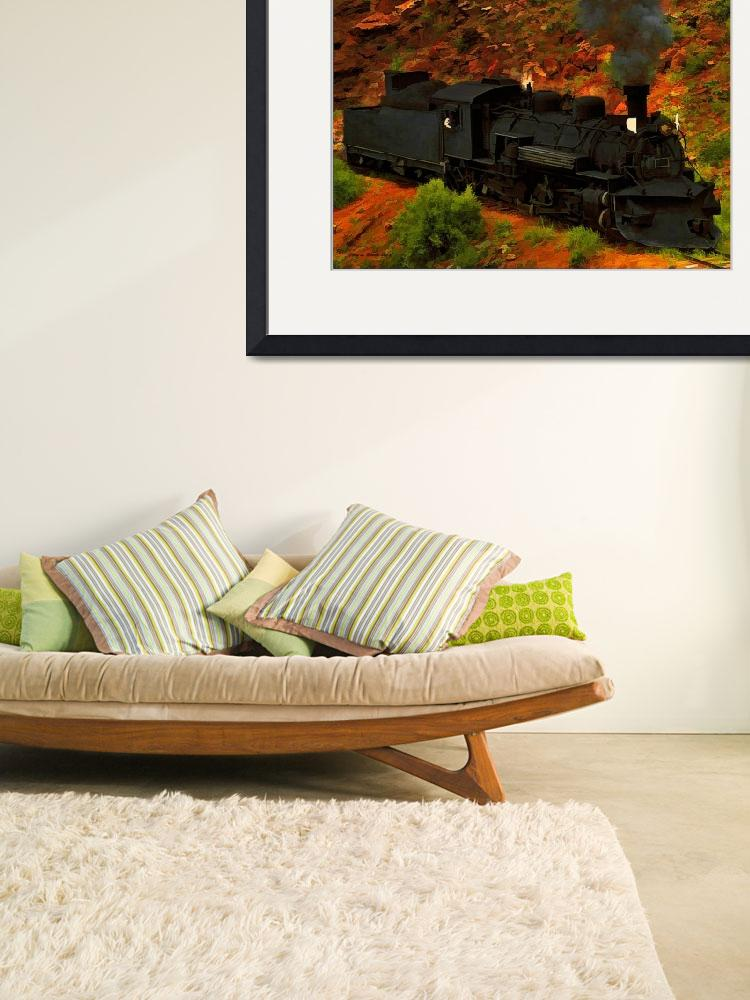 """Canyon Train&quot  (2011) by artstoreroom"