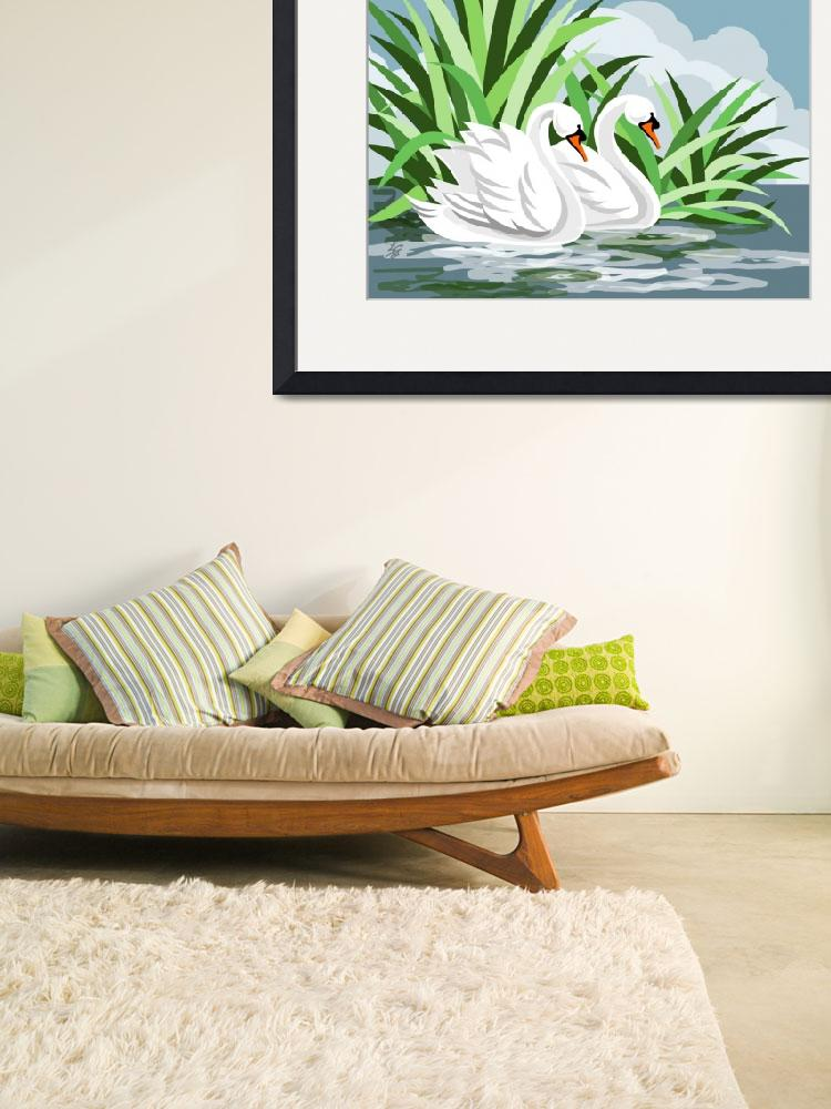 """""""Mute Swan Painting&quot  (2006) by waterart"""