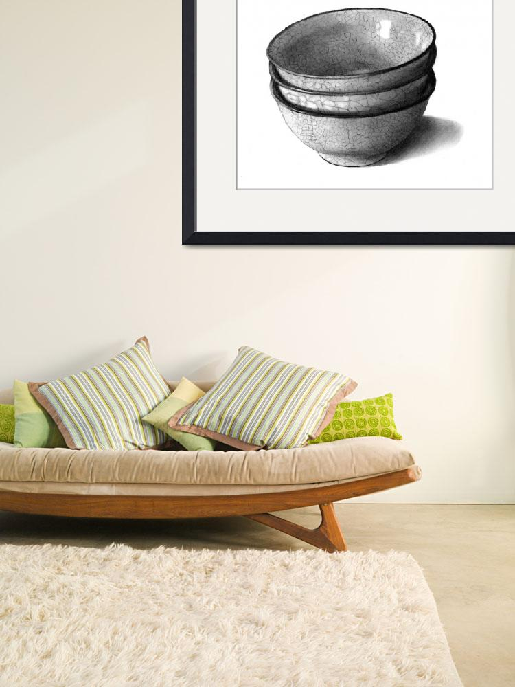 """Pencil Drawing of Three Bowls""  (2010) by joyart"