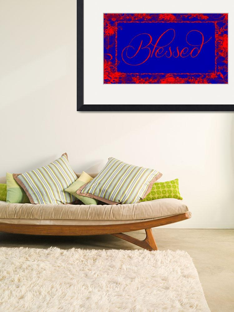 """""""blessed frame blue red""""  by lizmix"""