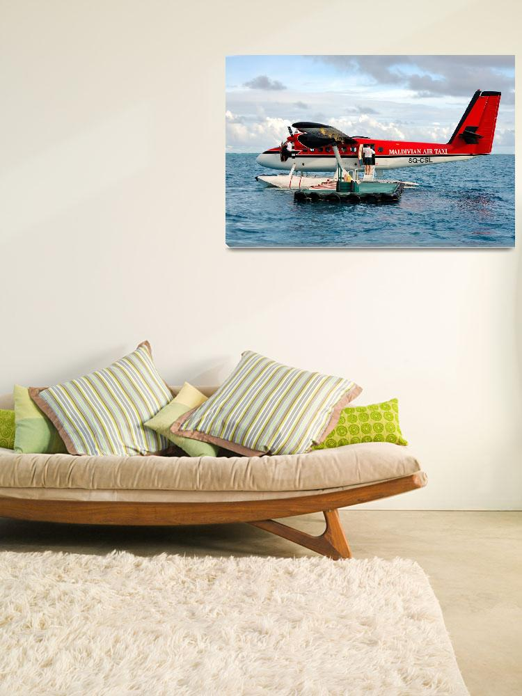 """""""Maldivian DHC-6, 8Q-CSL, Waiting for Passengers""""  (2006) by JoaoPonces"""