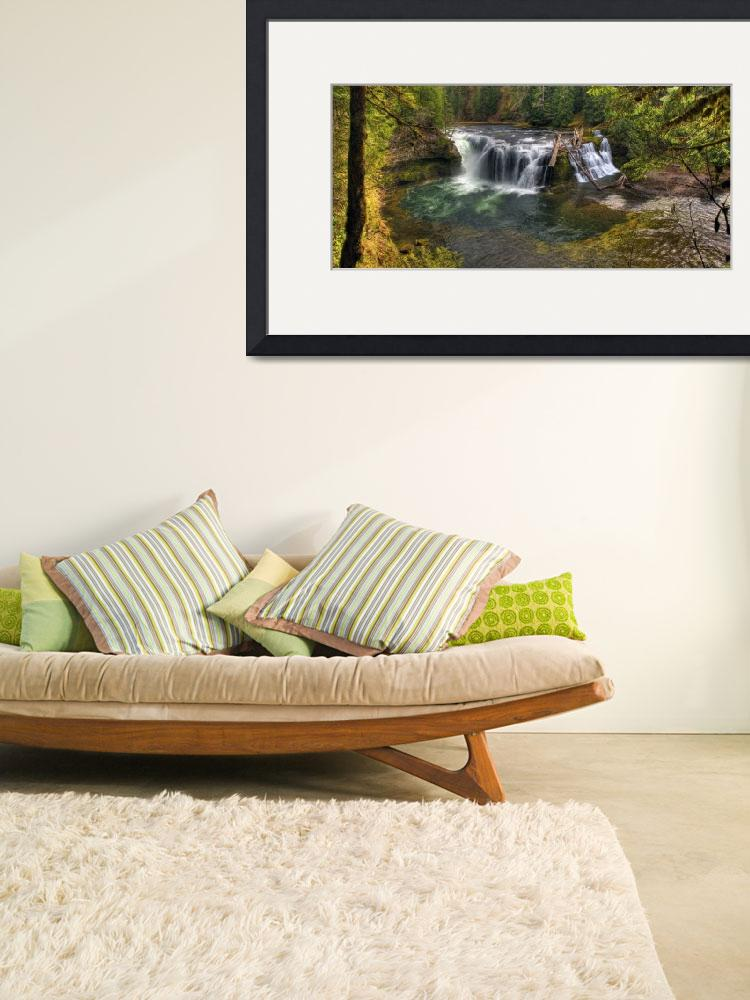 """""""0158 Lower Falls Panoramic--Upper Lewis River&quot  (2010) by vincentlouis"""