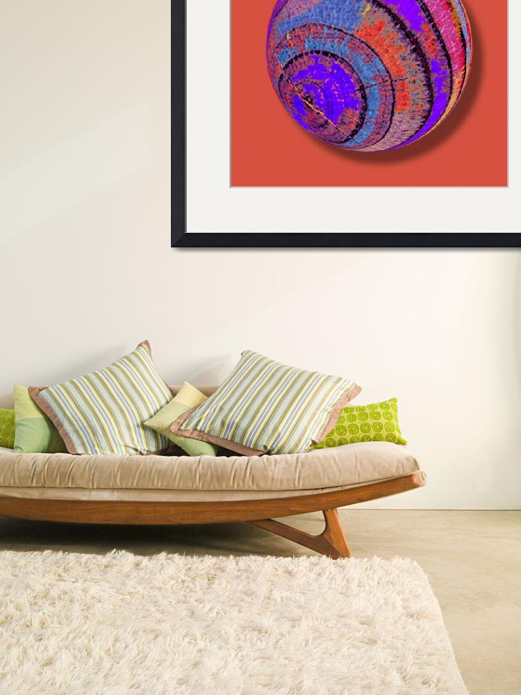 """""""Tree Ring Abstract Orb&quot  (2018) by RubinoFineArt"""