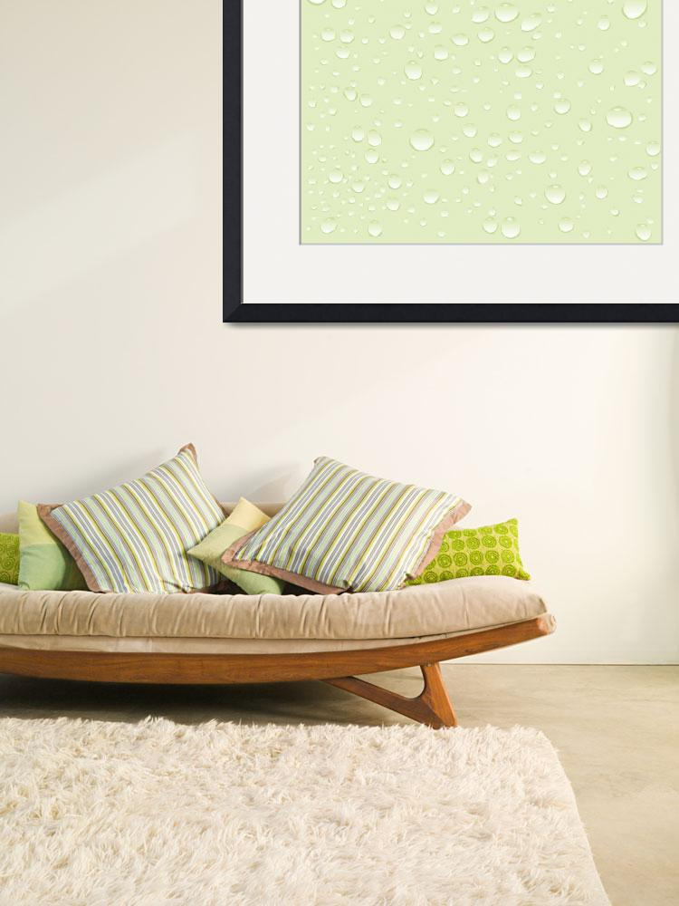 """""""water green drops pattern&quot  by robertosch"""