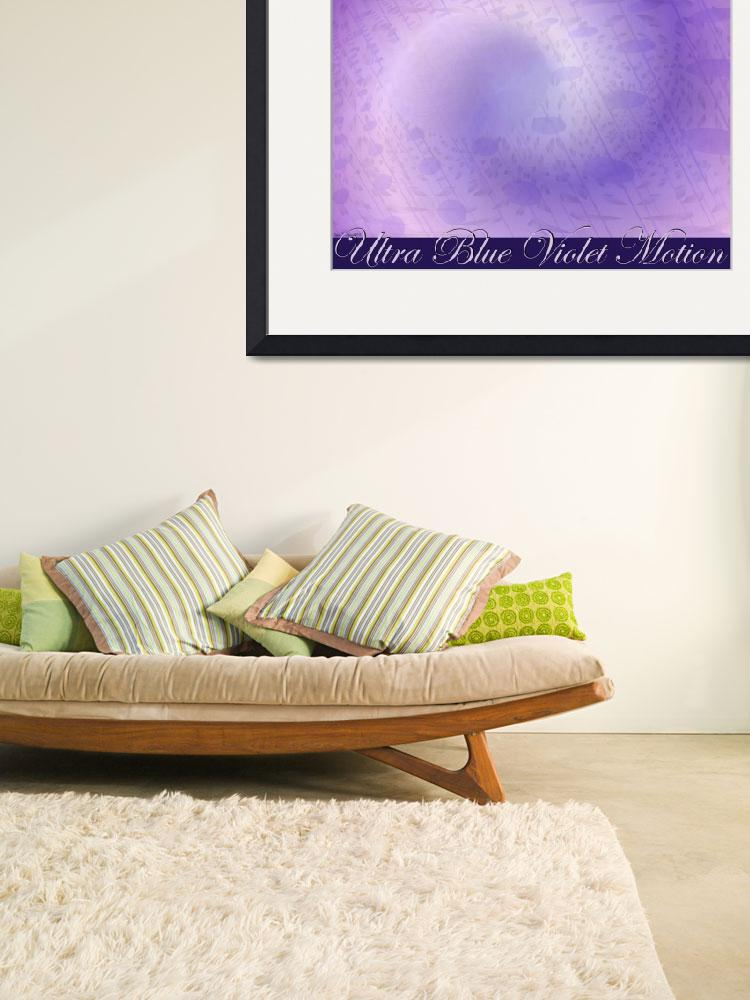 """Ultra Blue Violet Motion With Lettering Poster Des&quot  (2008) by stephenthedigitalartist"