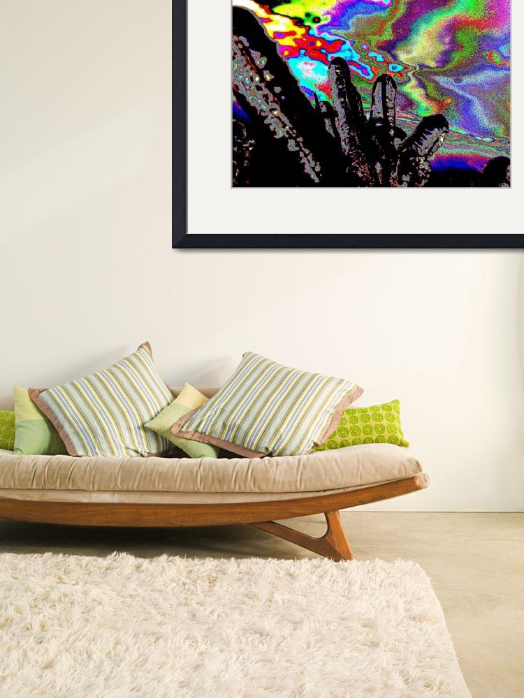 """""""Psychedelic Wild Ice abstract fingers sky dog&quot  (2009) by BuehlStuff"""