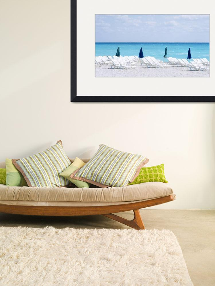 """""""Beach Chairs South Beach Miami Beach FL&quot  by Panoramic_Images"""