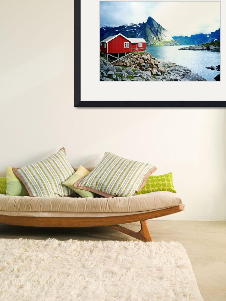 """""""Red Nordic Cottage by Adam Asar&quot  by motionage"""