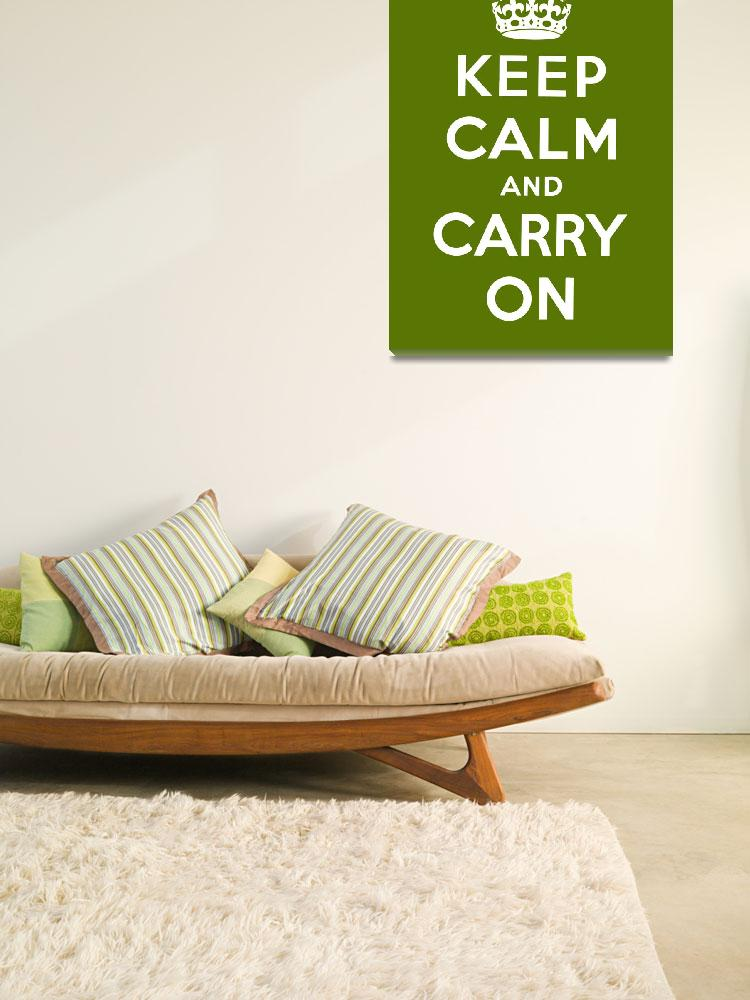 """""""Green Keep Calm And Carry On 3""""  by oldies"""