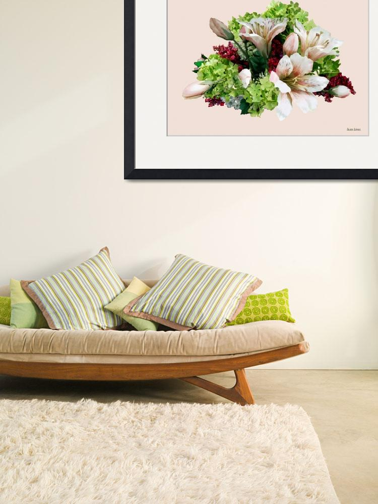 """""""Asiatic Lilies, Hydrangea and Berries&quot  by susansartgallery"""