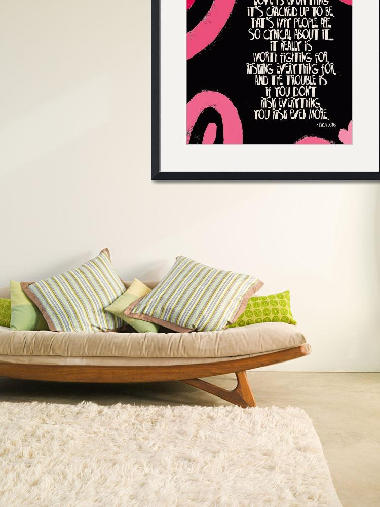 """""""LOVE IS EVERYTHING - PINK & BLACK SWIRL - ERICA JO&quot  (2010) by lisaweedn"""