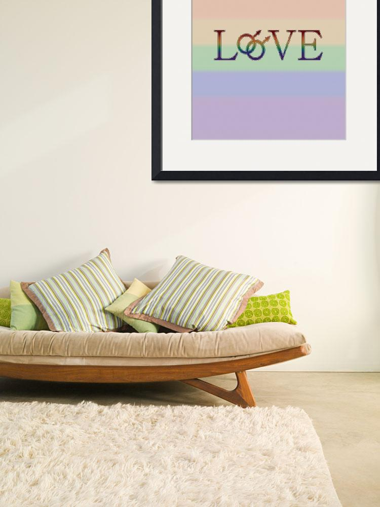 """""""Rainbow Love- With Double Male Gender Symbols - Ga&quot  (2013) by LiveLoudGraphics"""