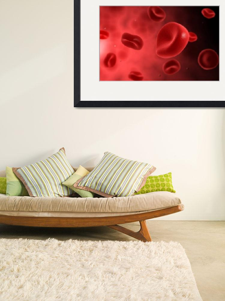 """""""Microscopic view of red blood cells&quot  by stocktrekimages"""
