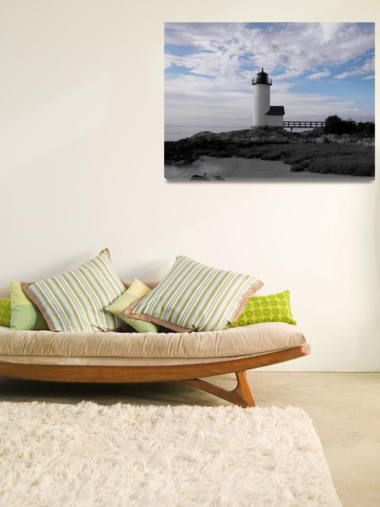 """""""Light of Day- Annisqaum Lighthouse&quot  (2011) by KenHigginsPhotography"""