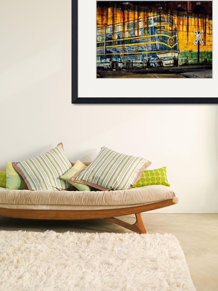 """""""bo-train-painting-on-wall-0318&quot  by travel"""