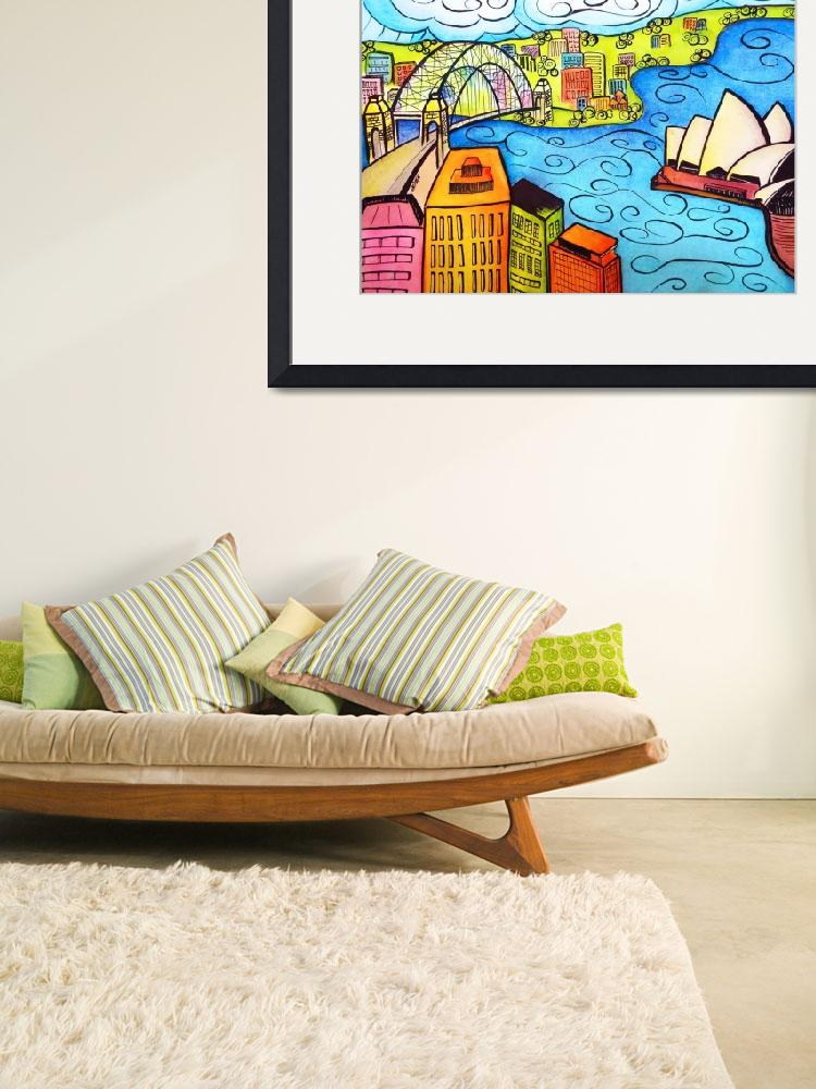 """""""Whimsical Sydney Harbour&quot  (2013) by oystudio"""
