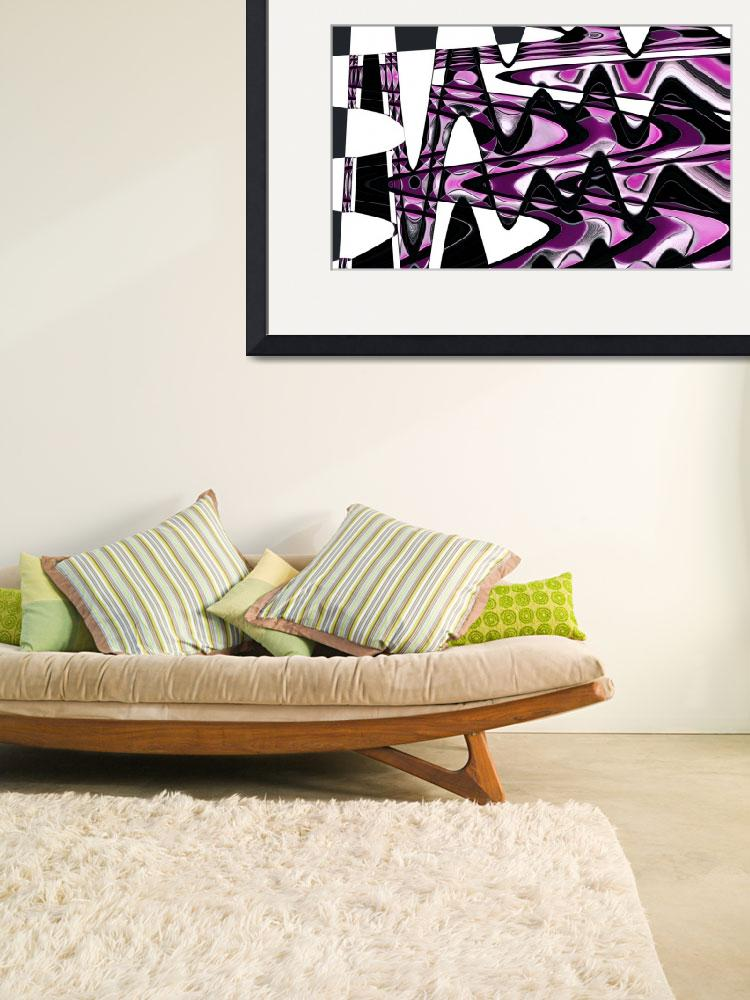 """Pink Waves Abstract Wall Art&quot  (2010) by NatalieKinnear"