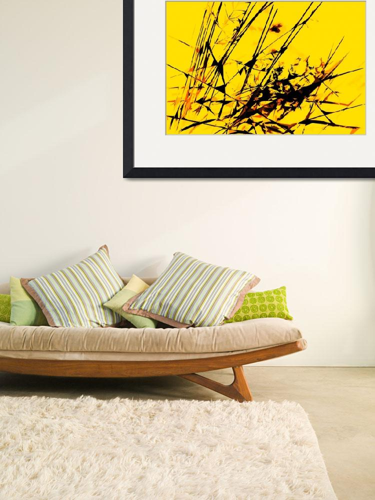 """""""Strike Out Yellow and Black Abstract""""  (2012) by NatalieKinnear"""