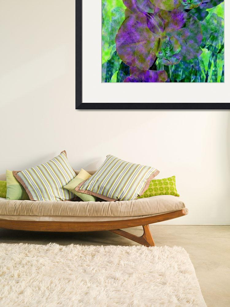 """""""Violet and Green Orchid Trio&quot  by LyndaLehmann"""