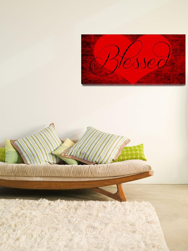 """""""blessed heart red black""""  by lizmix"""