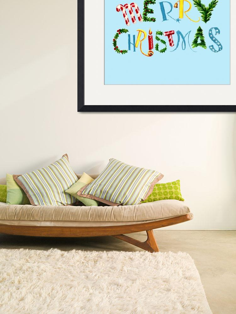 """Merry Christmas collage font""  by WrightCardandGift"
