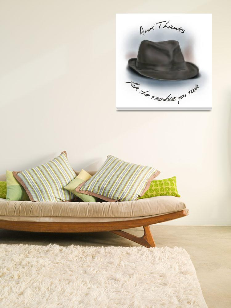 """""""Hat for Leonard Cohen""""  (2014) by brodyquixote"""