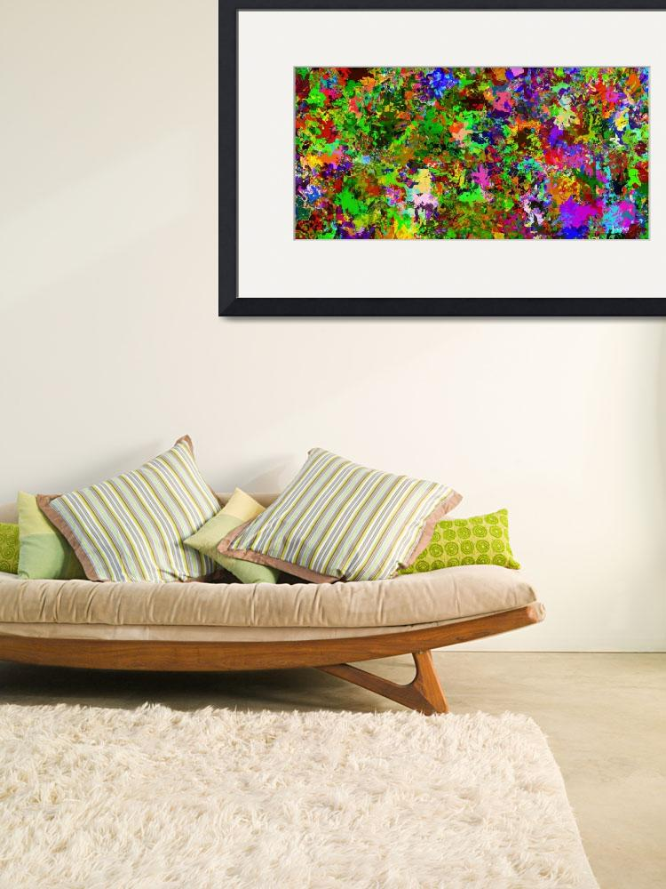 """""""Abstract colors style flowers&quot  (2016) by JapoArt"""