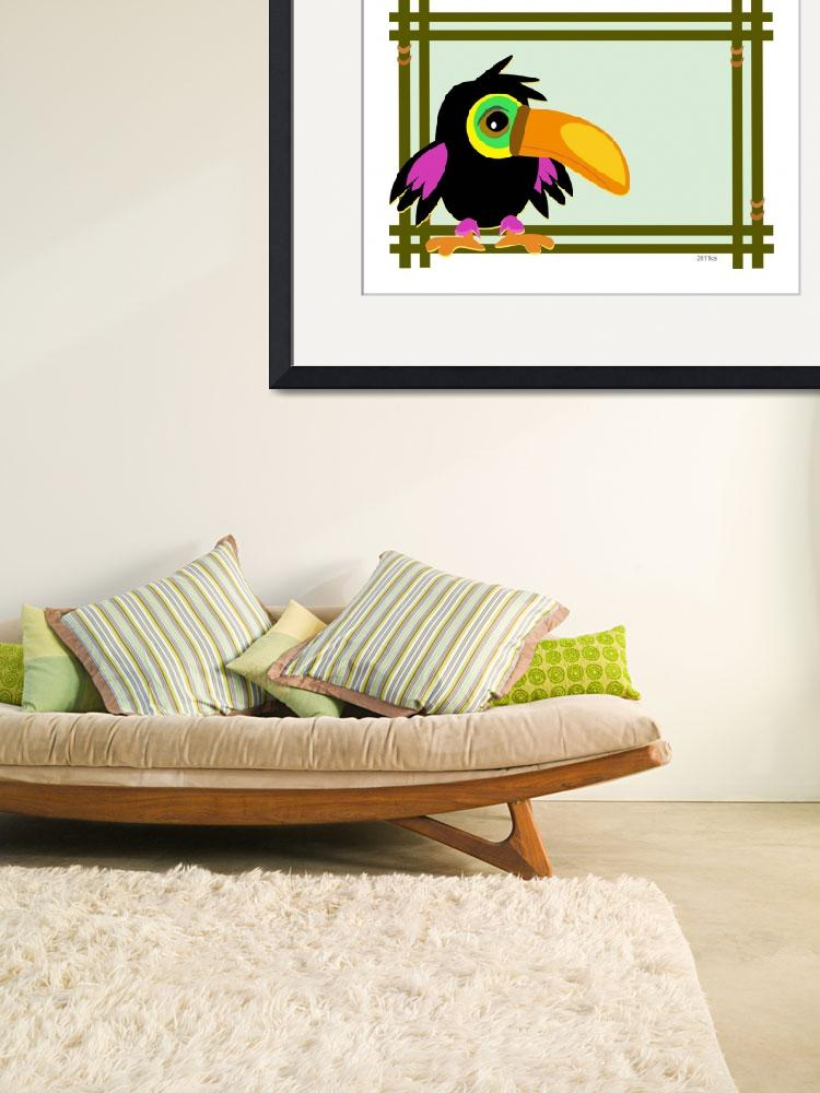 """Baby Toucan in a Wooden Frame&quot  (2011) by theblueplanet"