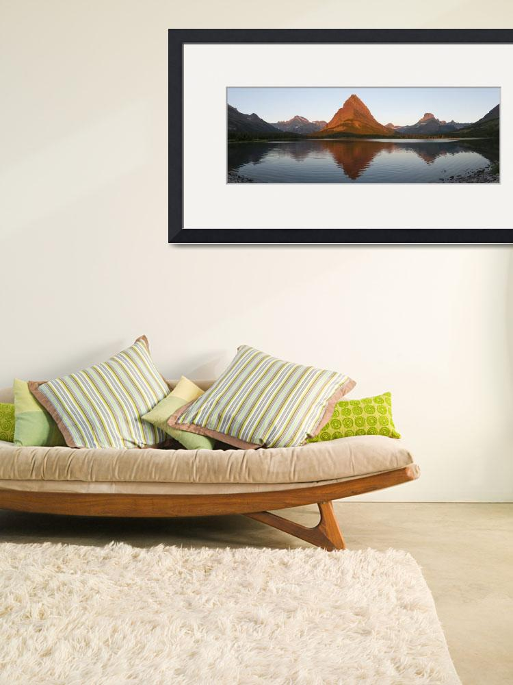 """""""Swiftcurrent Lake at Many Glaciers&quot  (2012) by hershmanphoto"""