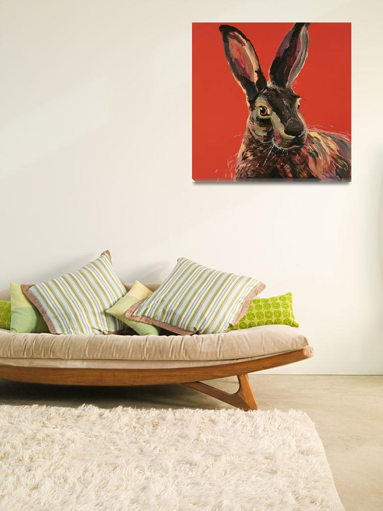 """Hare Red&quot  (2016) by BrettHudsonArt"