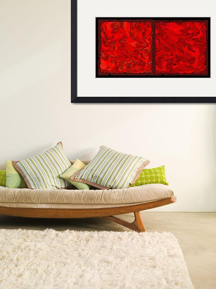 """""""COLOR OF RED VI CONTEMPORARY DIGITAL ART&quot  by grl"""