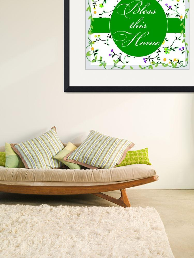 """""""bless this home daisy frame&quot  by lizmix"""