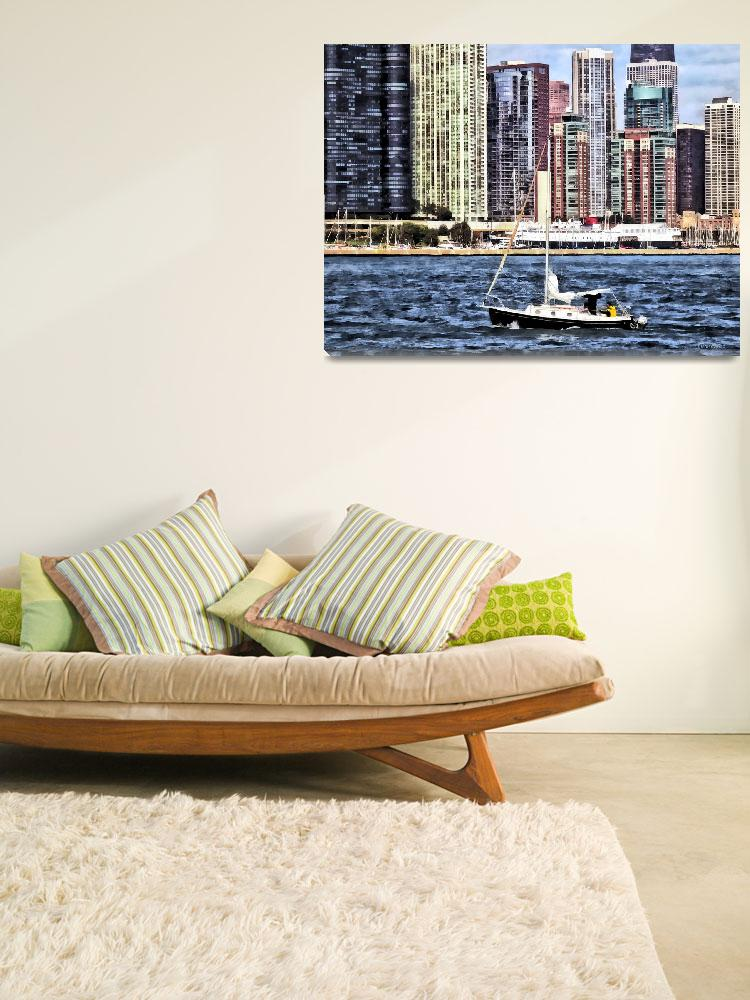 """Chicago IL - Sailing on Lake Michigan&quot  by susansartgallery"