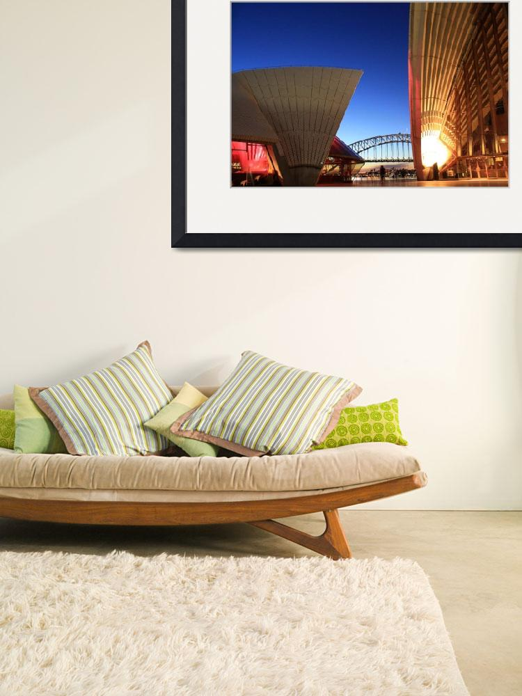 """""""Sydney Opera House and Harbour Bridge""""  (2011) by nathanbritt"""