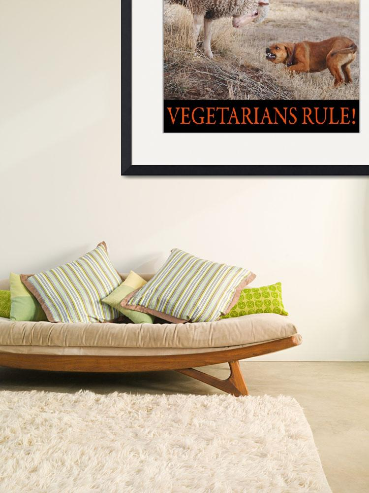 """""""vegetarians rule--my lamb and dog&quot  (2012) by rchristophervest"""