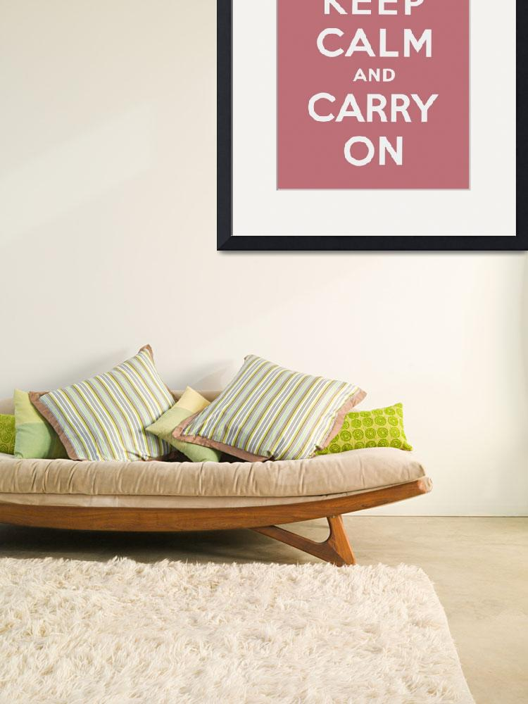 """""""Pink Keep Calm And Carry On 2&quot  by oldies"""