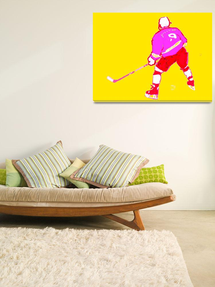 """""""Hockey Center yellow purple red white (c)&quot  (2014) by edmarion"""