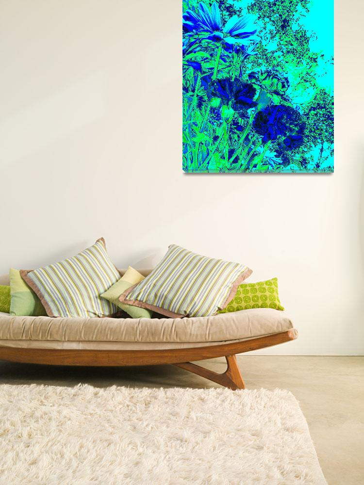 """Blue Green Experience""  (2012) by AprilO"