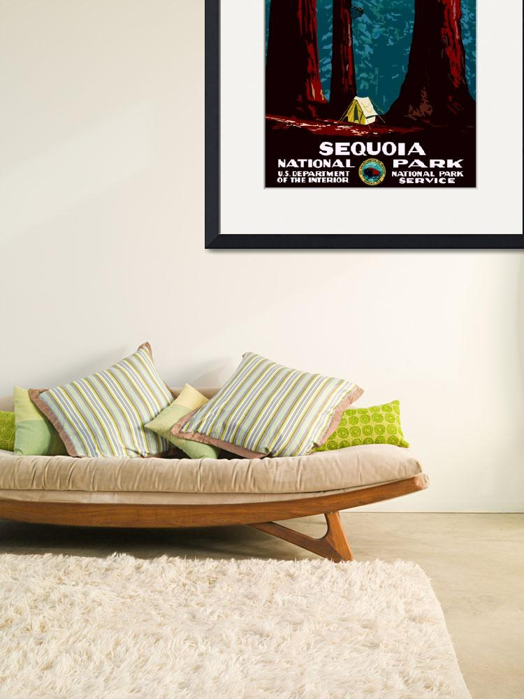 """""""Vintage Sequoia National Park Camping&quot  by PDGraphics"""