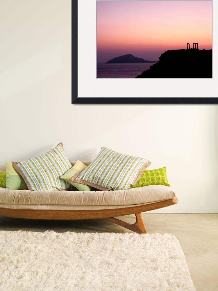 """""""Sunset at Sounio II&quot  (2010) by Elenilou"""