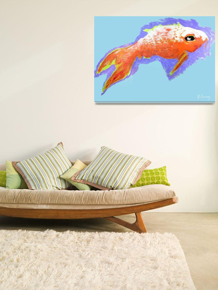 """""""Peaceful Orange Goldfish&quot  (2000) by rjconway"""